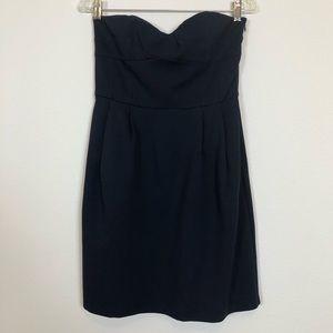 Diane Von Furstenberg Navy Strapless Mini Dress 10